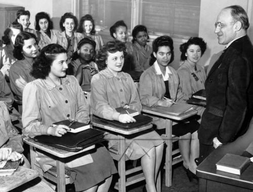 women in class