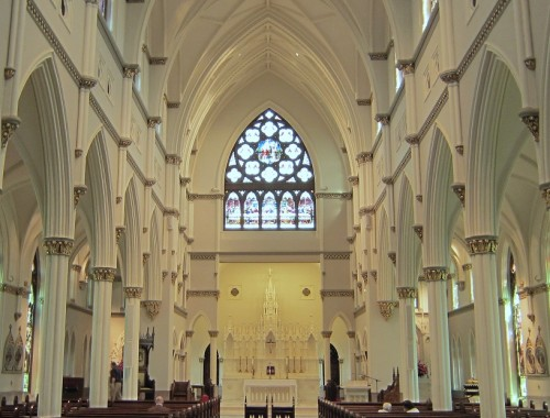 The nave of the Cathedral of St John the Baptist, Charleston, SC