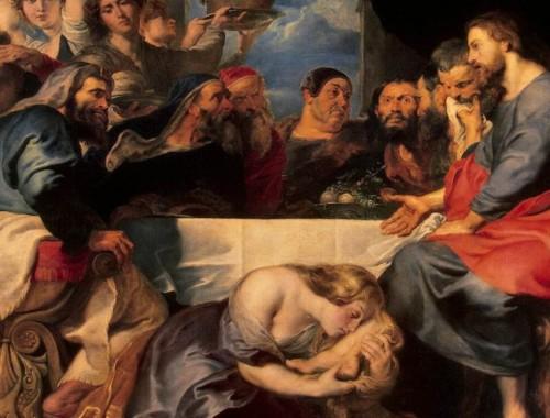 annointing Jesus feet