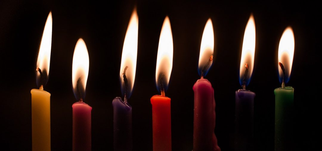 rainbow-candles